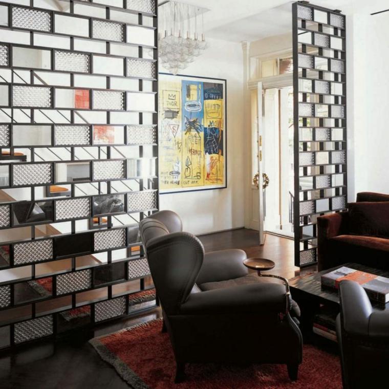 pasillo recibidor decorado separador ambientes