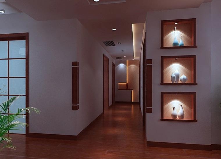 Pasillos pintados y decorados para interiores modernos - Interiores modernos de casas ...