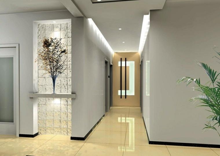 Pasillos pintados y decorados para interiores modernos - Suelos para casas modernas ...
