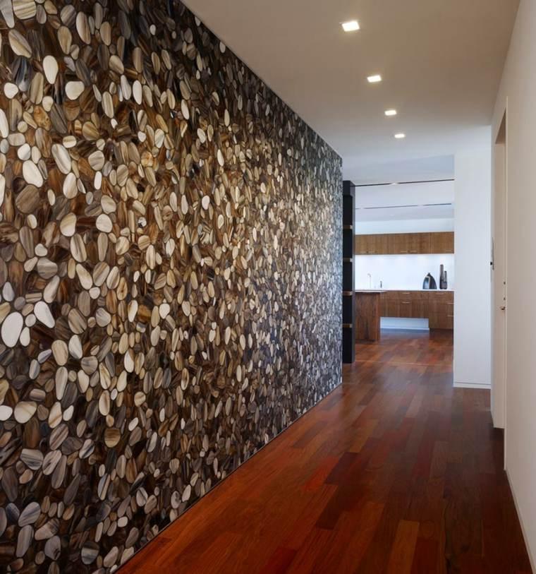 Pasillos pintados y decorados para interiores modernos for Mosaicos para paredes interiores