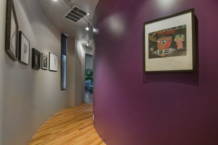 Pasillos pintados y decorados para interiores modernos -