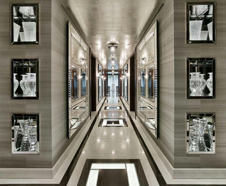 Pasillos pintados y decorados para interiores modernos - Decoracion pasillos largos ...