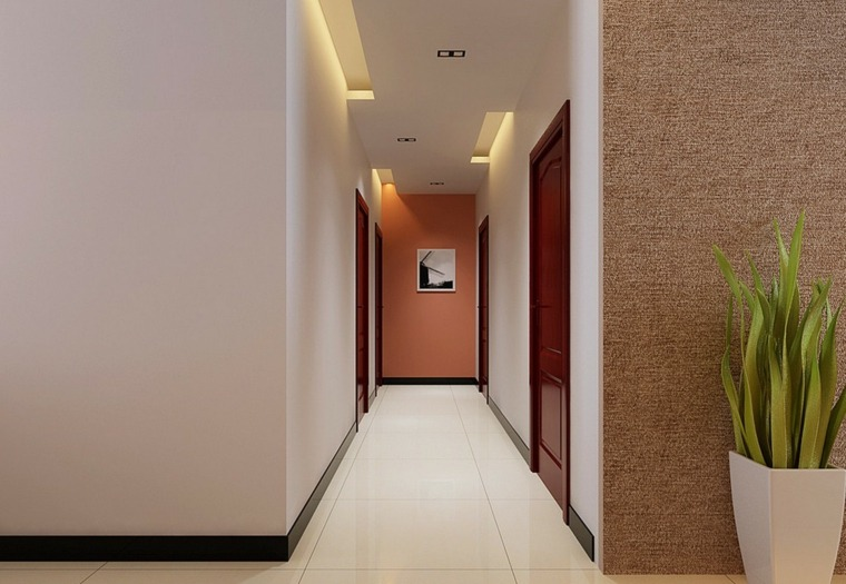 Pasillos pintados y decorados para interiores modernos for Pasillos pintados color arena