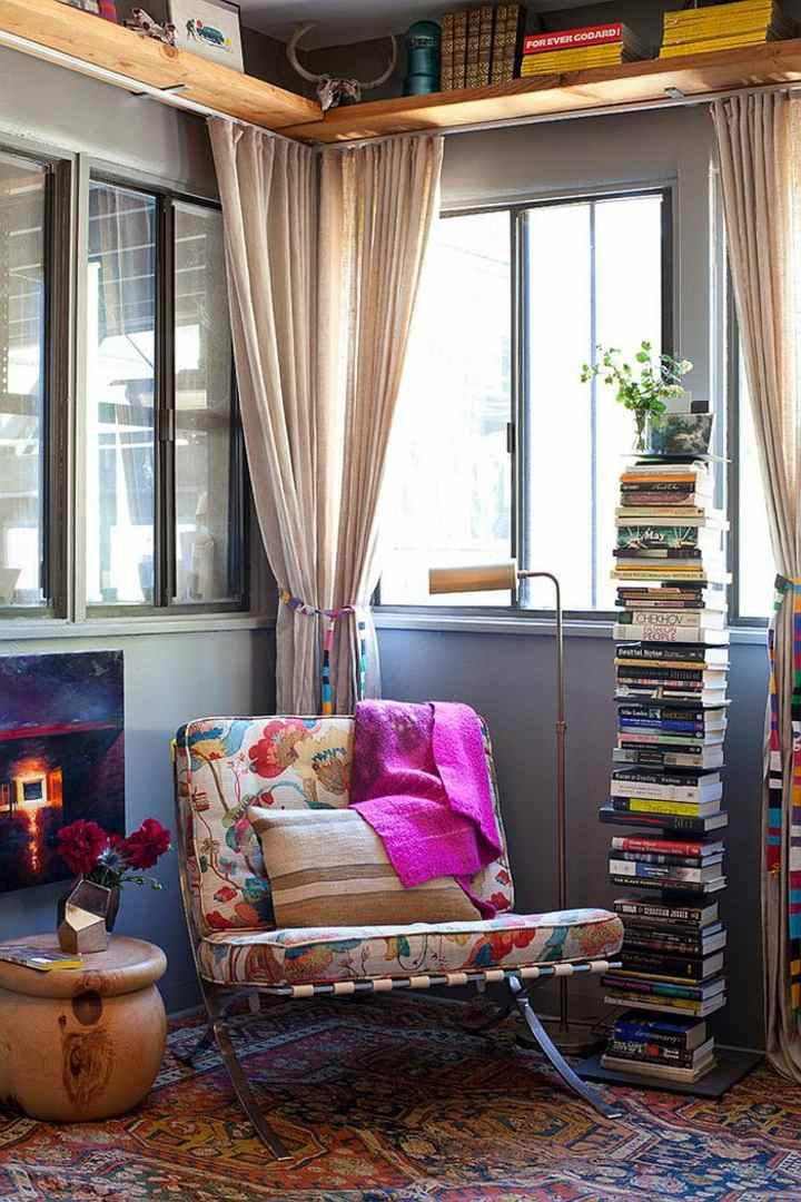 pilas libros estilos colores alfombras estilos