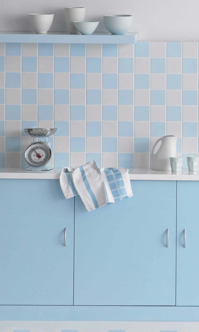 pintar azulejos cocina azul