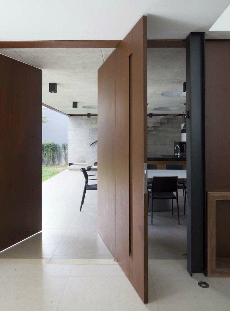 puerta pivotante diseno original fc studio ideas