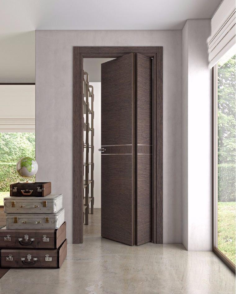 Puertas de interior modernas el estilo entra en casa - Puerta plegable madera ...