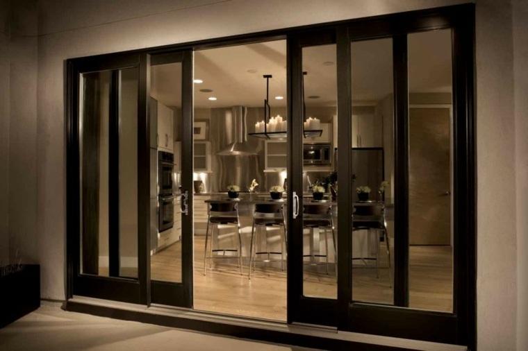 Puertas corredizas para los interiores de las casas - Cristal para puerta ...