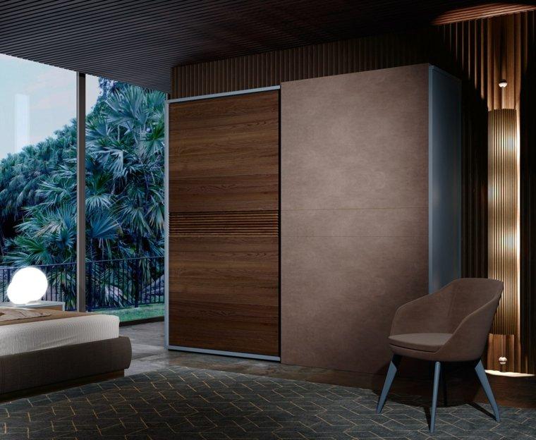 Puertas corredizas para los interiores de las casas for Cortinas de madera para puertas