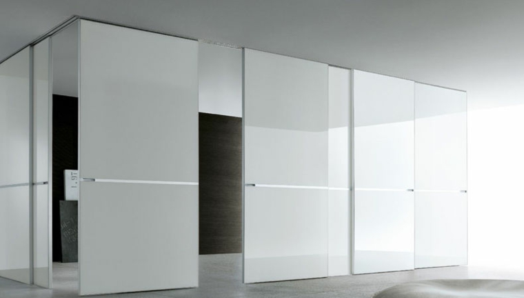 Puertas corredizas para los interiores de las casas for Diseno puerta