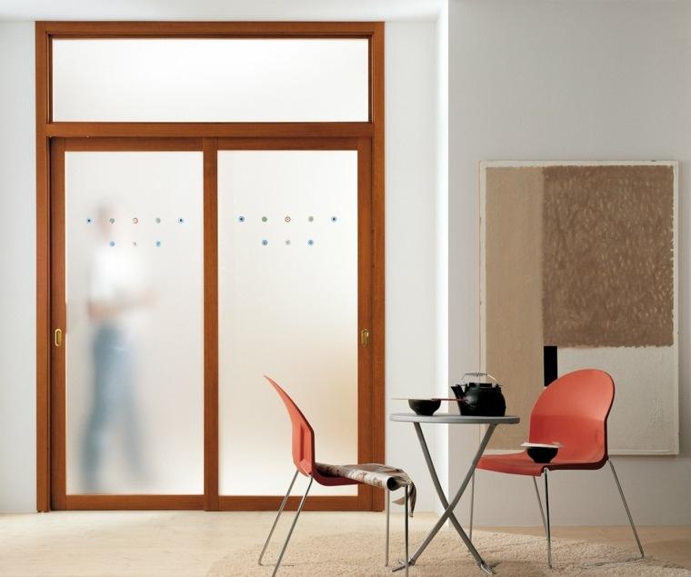 Puertas corredizas para los interiores de las casas for Puerta que abre para los dos lados
