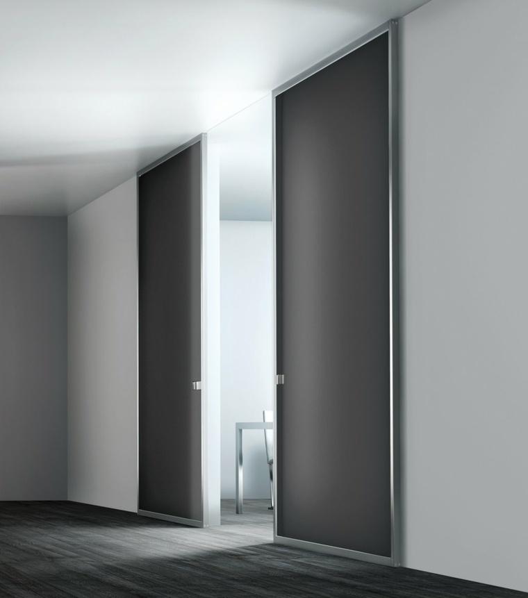 Puertas corredizas para los interiores de las casas for Puertas interiores modernas