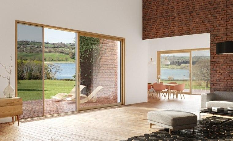 Puertas corredizas para los interiores de las casas for Puertas para casa interior