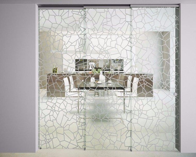 puertas de interior elegantes una opcin de cristal de la collecin sinthesy de foa