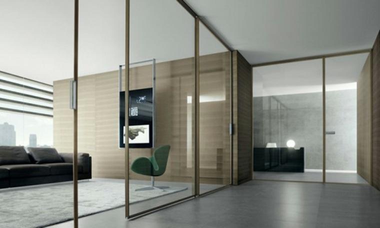 Puertas corredizas para los interiores de las casas - Puertas corredizas de vidrio ...