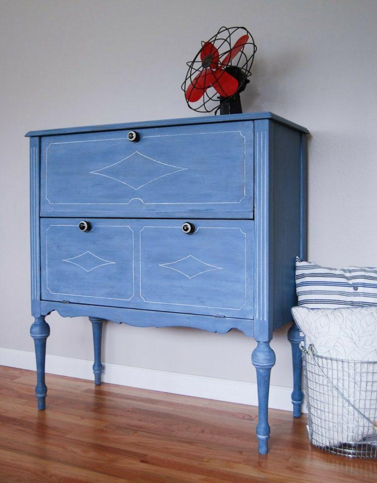 Reciclar muebles antiguos y darles una nueva vida - Disenos muebles pintados ...