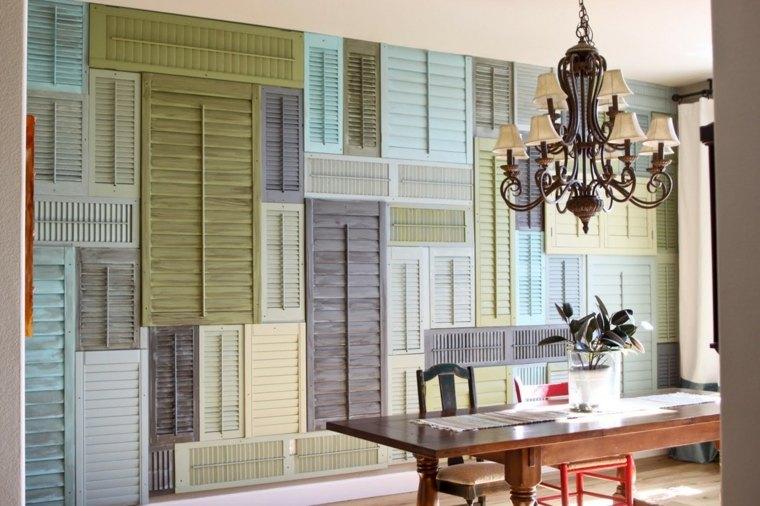 reciclar muebles antiguos pared original comedor ideas