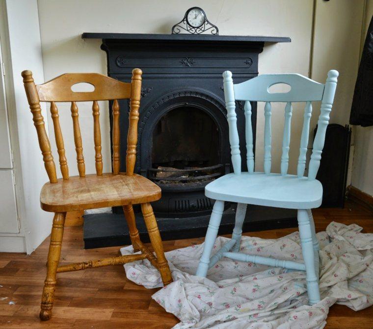 Muebles antiguos restaurados en blanco dos mesitas de - Reciclar muebles viejos ...