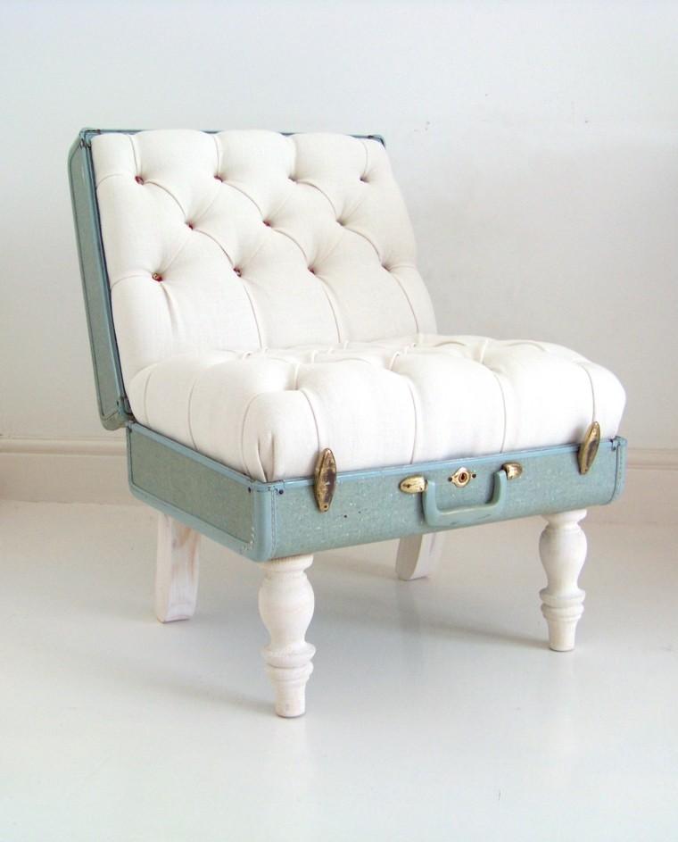 reciclar muebles antiguos sillon pequeno taburete ideas