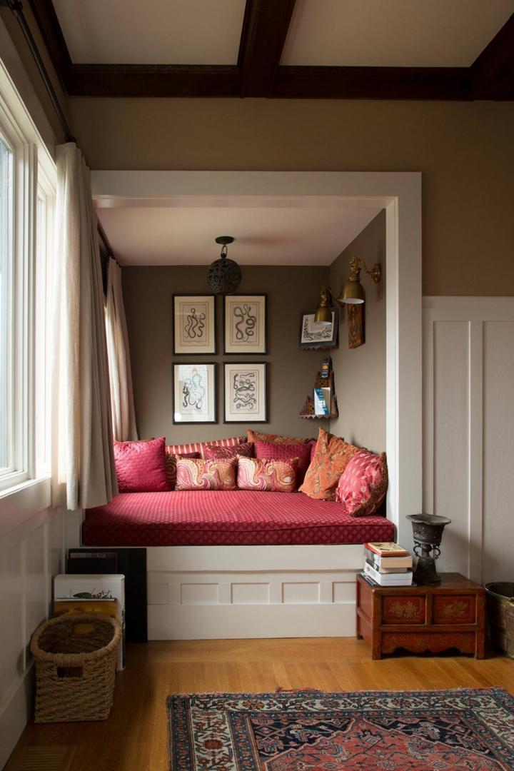 rojos cortinas acentos materiales rojo
