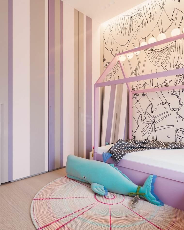 rosa agradable dormitorio infantil salones
