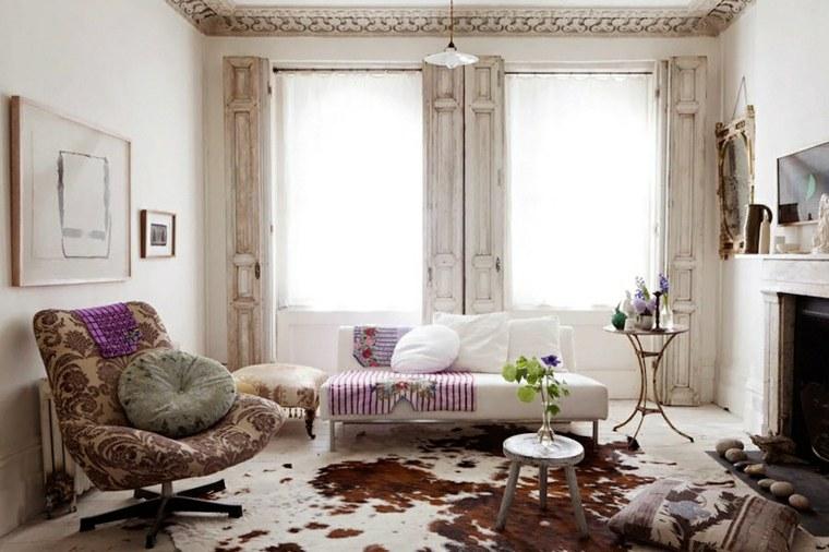 sala de estar alfombra piel