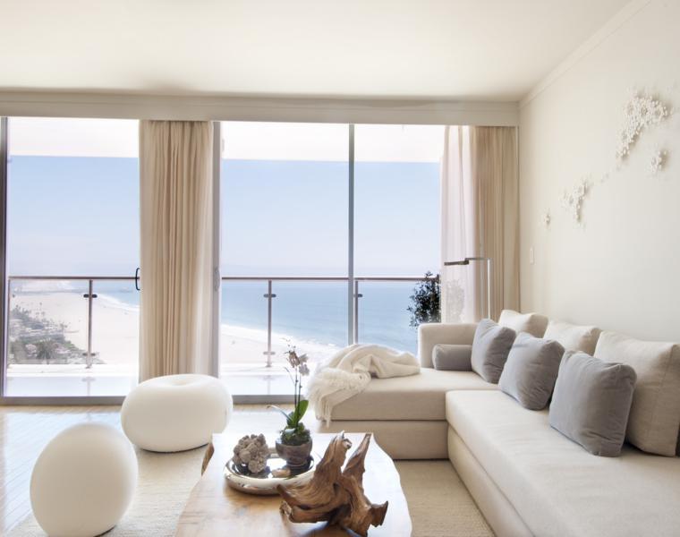 sala estar moderna cortinas