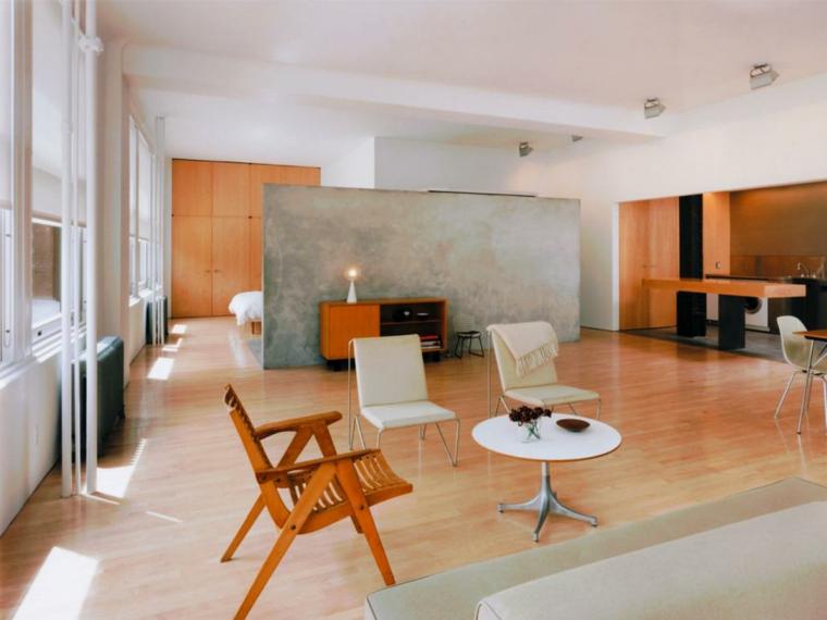 sala estar madera moderna