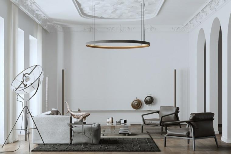 salon decoracion combinacion muebles modernos suelos