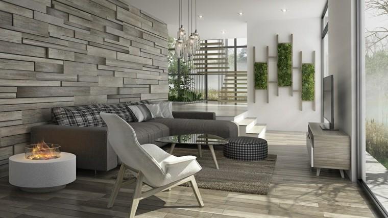 salon decoracion lateral chimeneas modernos
