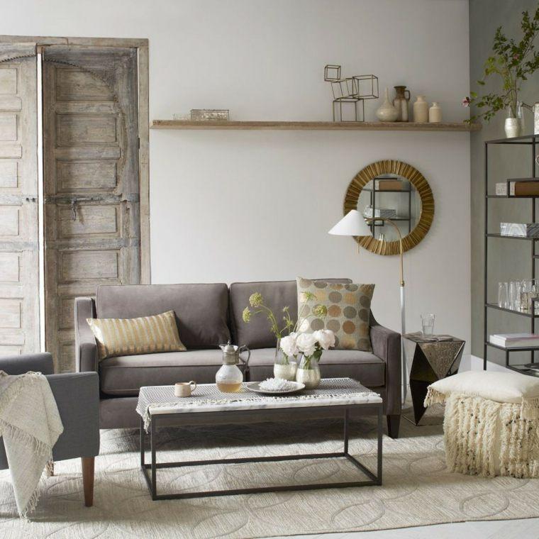 salon moderno diseno decoracion metal ideas