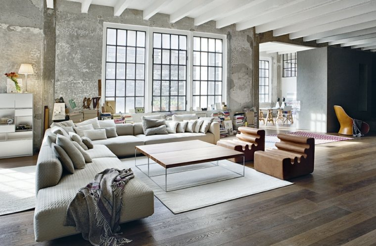 salon sofa angulo diseno moderno zanotta ideas