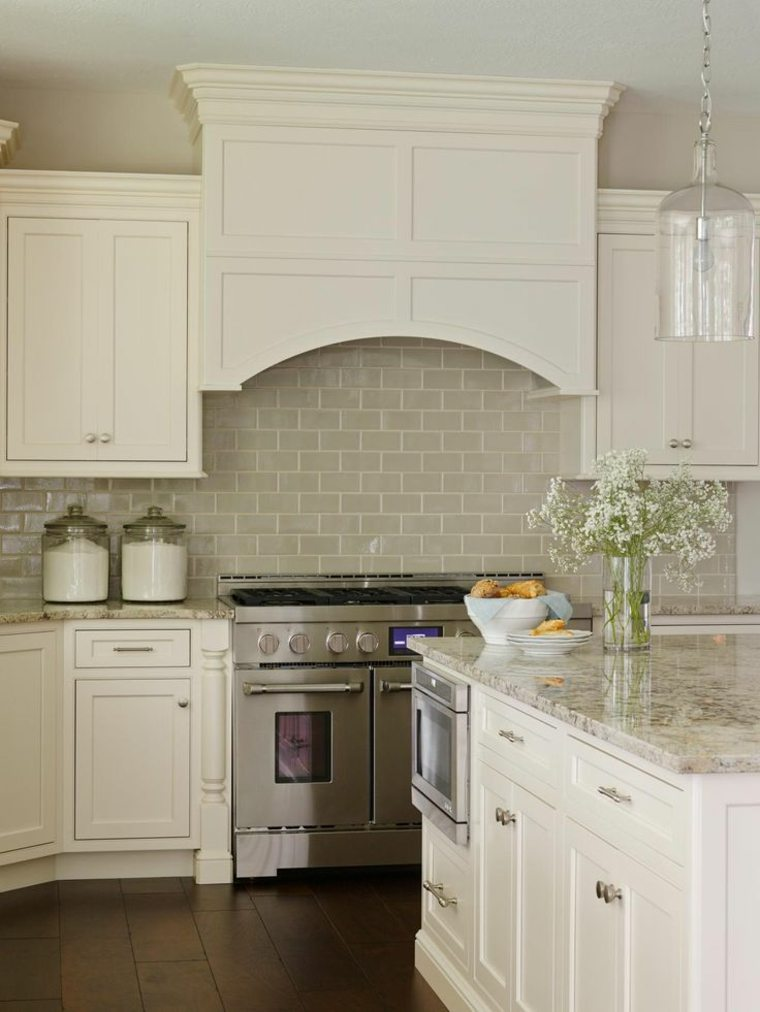 Dise os de salpicaderos de cocina modernos 34 ideas - Azulejo metro cocina ...