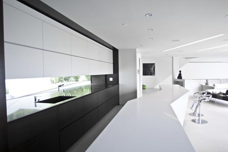 salpicadero ventanas moderna cocina paredes