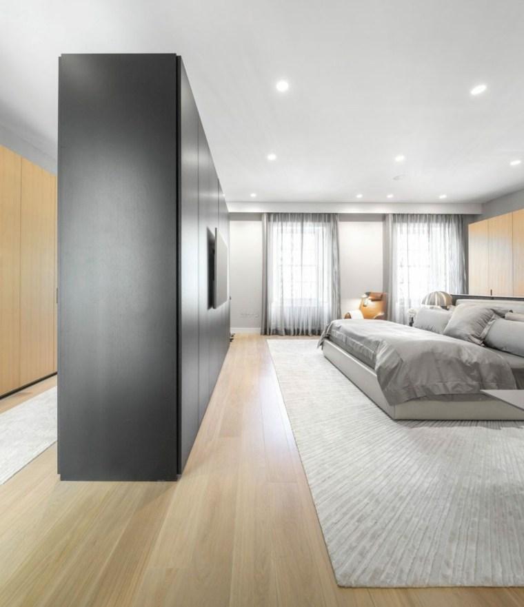 separador muebles camas grises habitaciones