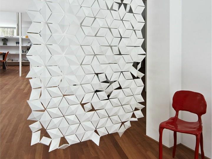 separadores de ambientes geometricas sortinas rojo - Separador De Ambientes