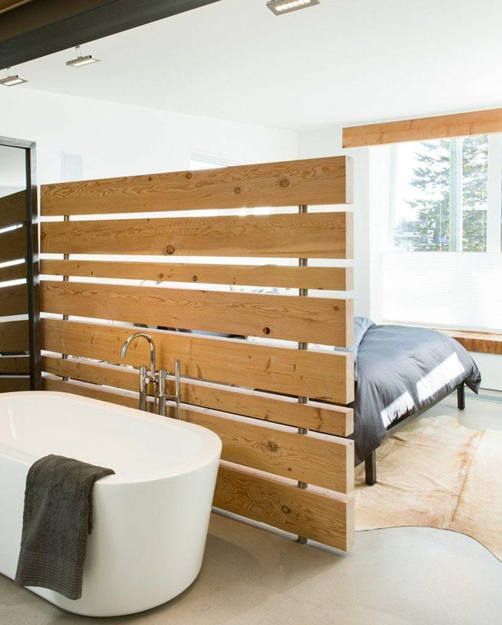 separadores de ambientes paneles madera lineas - Separador De Ambientes