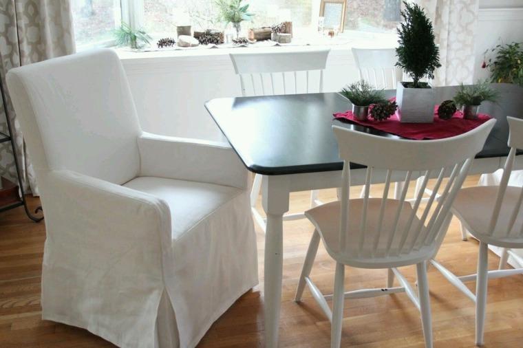 estupendas sillas comedor color blanco