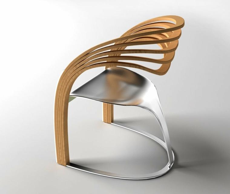 Sillas modernas y elegantes para el dise o del interior for Sillas de metal modernas