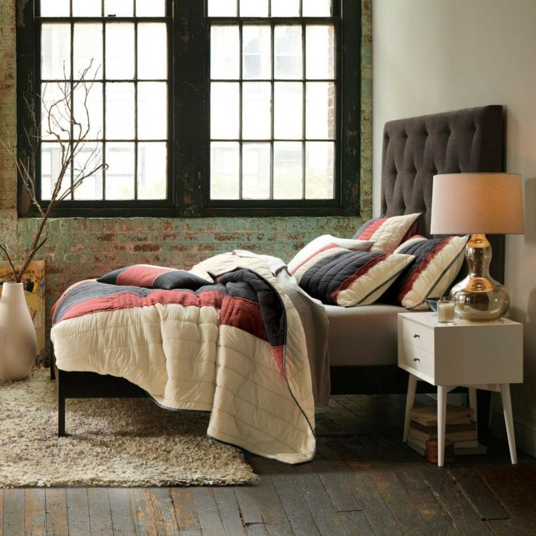 suelo madera antigua alfombra moderna ideas