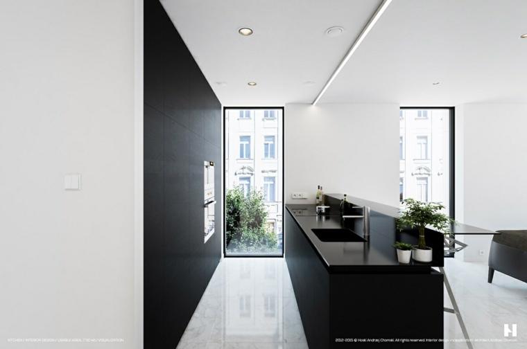 suelo marmo blaca cocina paredes