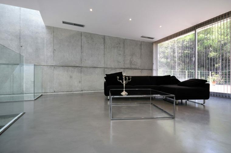 suelos de microcemento decoración salón