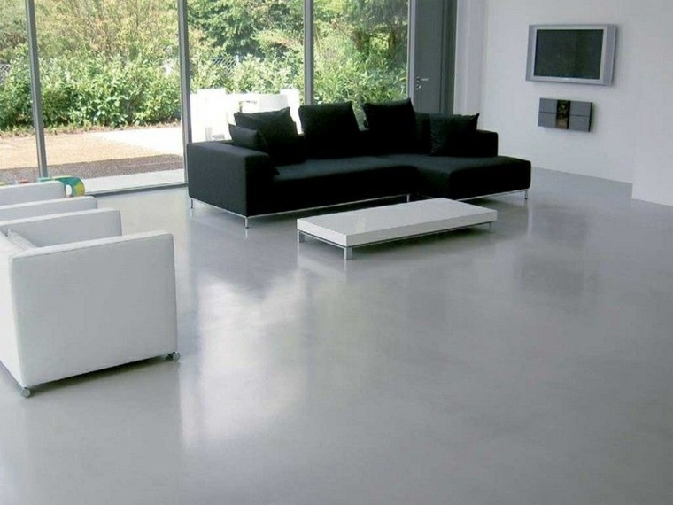 suelos de microcemento decorar salón