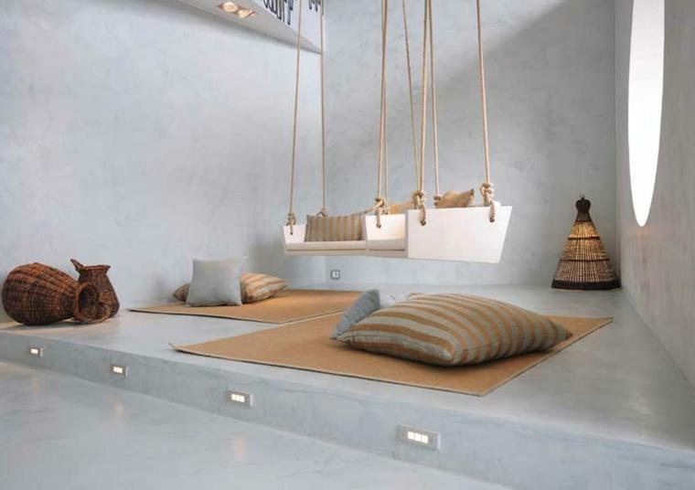 suelos de microcemento sala de estar