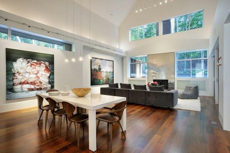 suelos para casas madera diseno interior plano abierto ideas