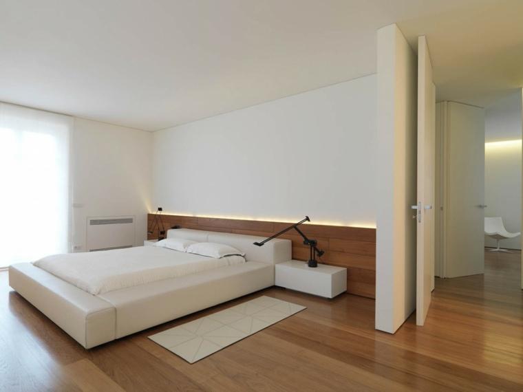 suelos para casas madera dura dormitorio minimalista ideas