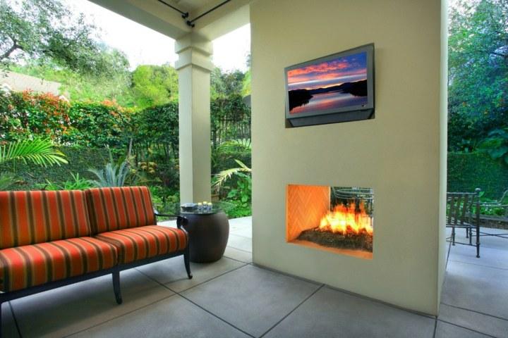 television pared elegantes muebles altura
