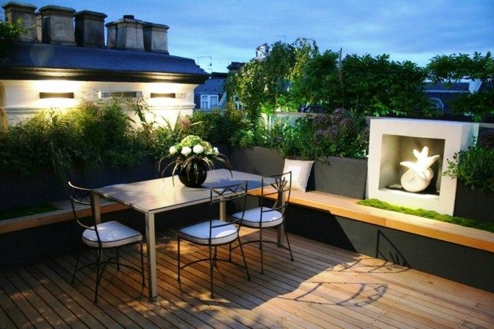 terraza suelos acogedora madera sillas