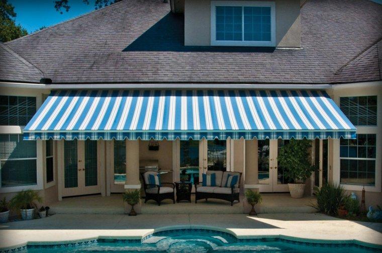 tipos de toldos opciones jardin piscina ideas - Tipos De Toldos
