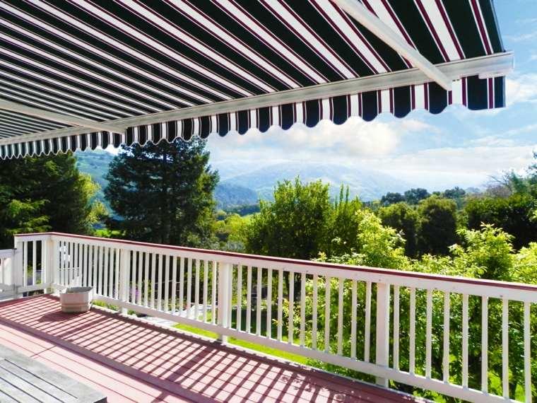 tipos de toldos opciones terraza diseno ideas
